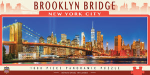 CITY PANORAMICS - BROOKLYN BRIDGE, NY - 1000 PIECE PANORAMIC JIGSAW PUZZLE