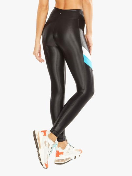 Koral - Stage High Rise Infinity Legging - Black/Top Blue
