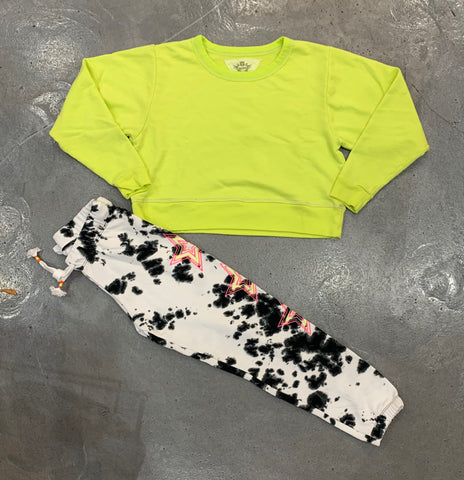T2Love Neon Yellow Crewneck Sweatshirt