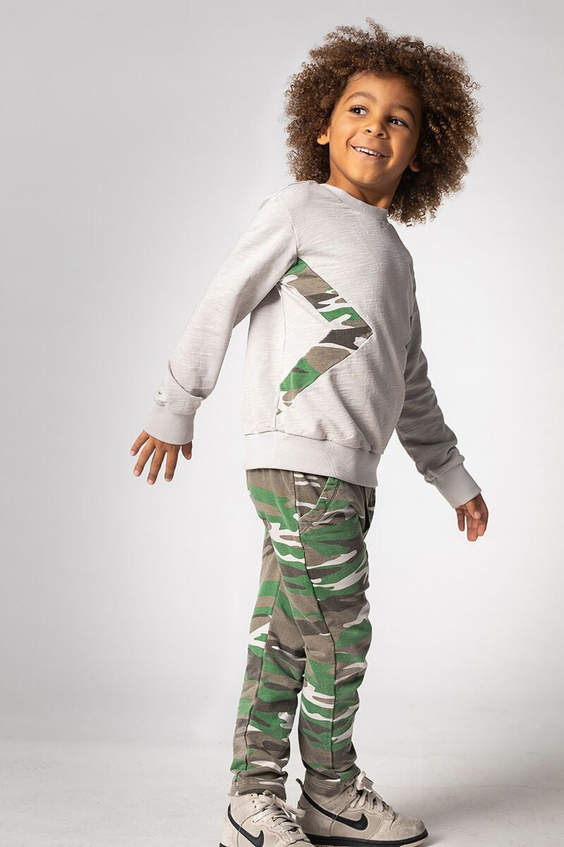 JOAH LOVE Myka Boys Long Sleeve Top with Camo
