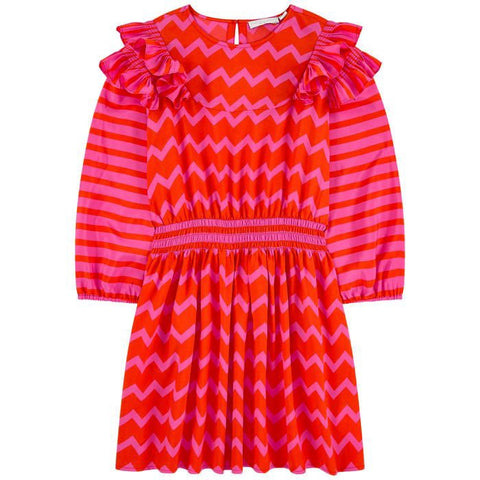 STELLA MCCARTNEY Girls Chevron Stripe Dress