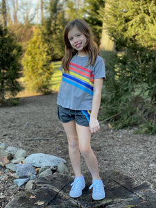 Tweenstyle - Rainbow Stripe Shorts