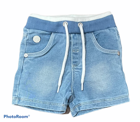 Boboli - Knit denim bermuda shorts