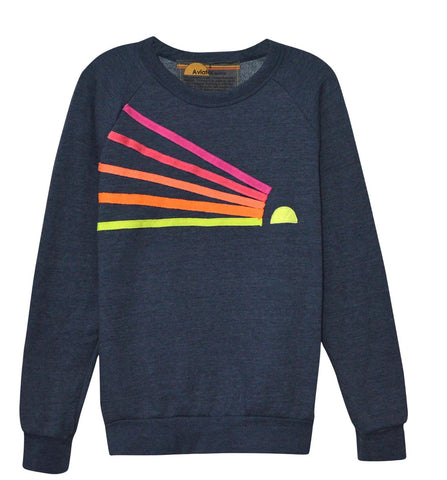 Aviator Nation - DAYDREAM SWEATSHIRT - HEATHER NAVY // NEON