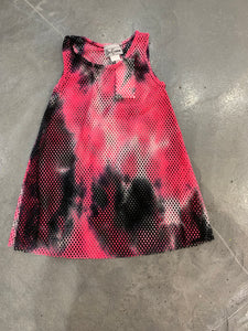 Dori Creations Pink/Black Tie Dye Mesh Cover Up