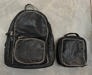 Bari Lynn Backpack, Black Chain