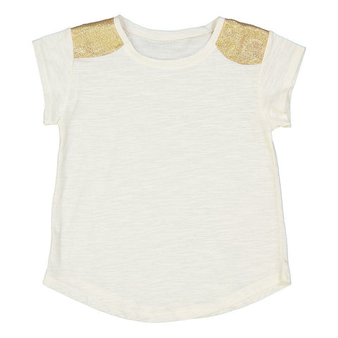 Louis Louise White/Gold Tee