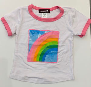 Sparkle By Stoopher Ringer Tee - Rainbow