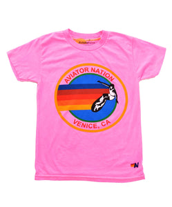 Aviator Nation - KID'S AVIATOR NATION TEE - NEON PINK