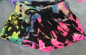 Hard Tail Terry Shorts Electric Tie Dye
