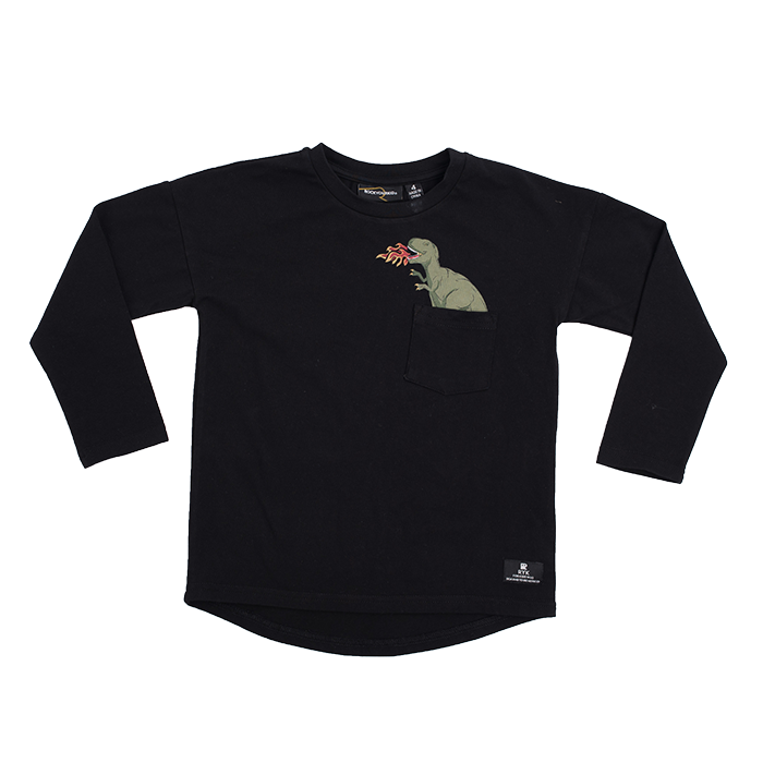 ROCK YOUR BABY Long Sleeve Top with Dinosaur