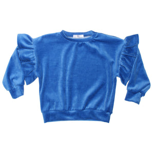 JOAH LOVE Rayne Girls Long Sleeve Top with Flutter Sleeve