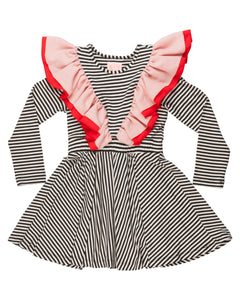 WAUW CAPOW Girls Striped Dress