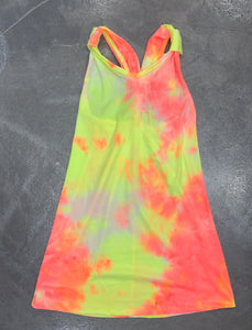 Pinc Tie Dye Cover Up Dress