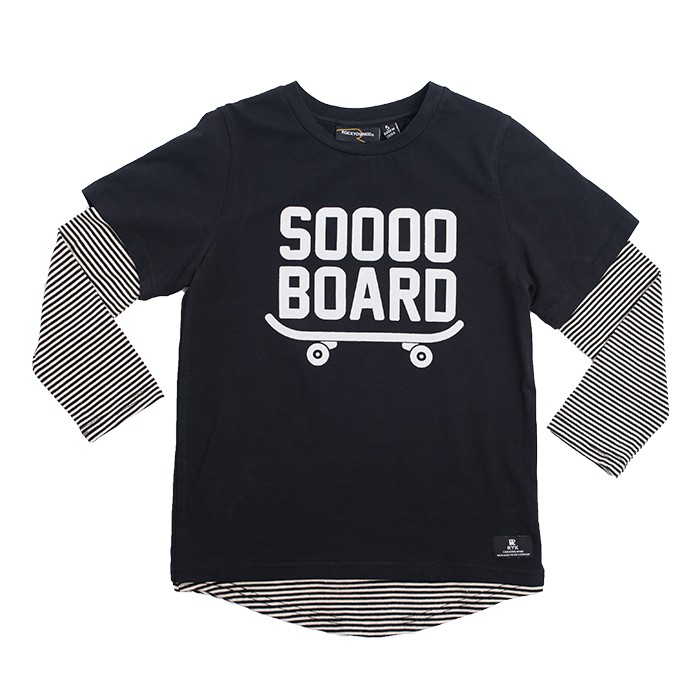 "ROCK YOUR BABY ""Sooo Board"" Long Sleeve Top"