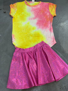 Dori Creations Pink & Yellow Tie Dye Tee