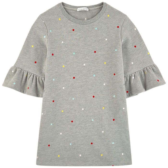 SONIA RYKIEL Girls Grey Dress with Polka Dots