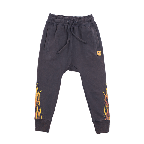 ROCK YOUR BABY Sweatpants with Flame