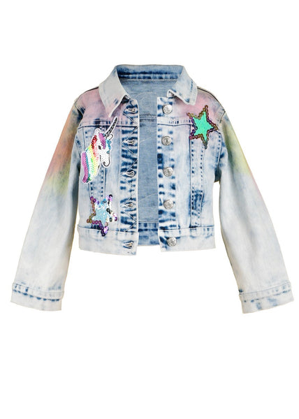 Hannah Banana Rainbow Denim Jacket