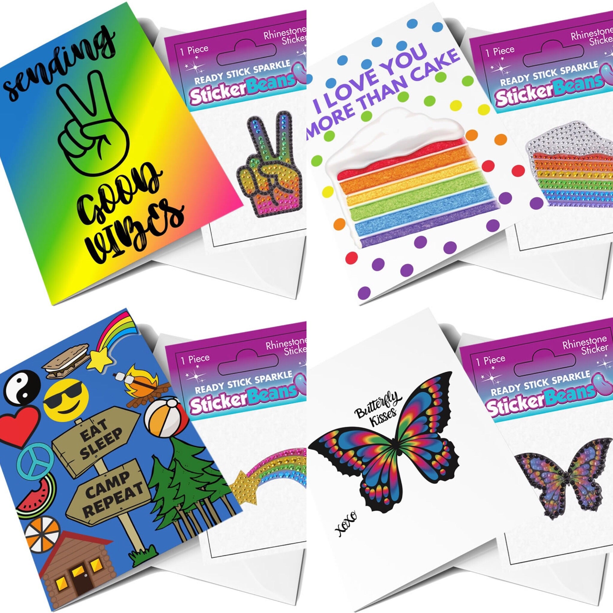Sticker Beans Greeting Card Combo