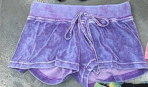 Hard Tail Terry Shorts Purple Mineral Wash