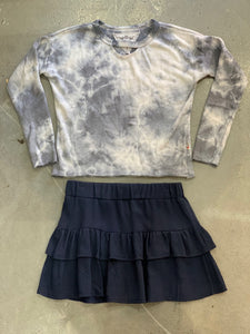 Tweenstyle - Tiered Skirt - Navy