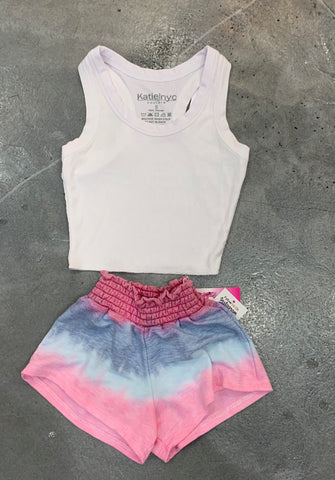 So Nikki Smocked Top Shorts
