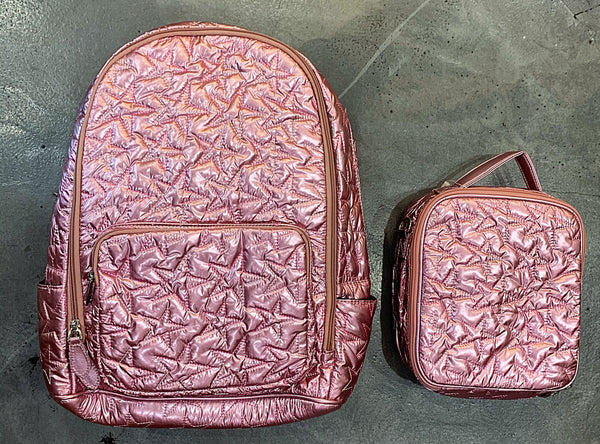 Bari Lynn Backpack, Pink Star
