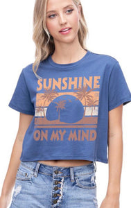 JUNIOR - SUNSHINE CROPPED TEE
