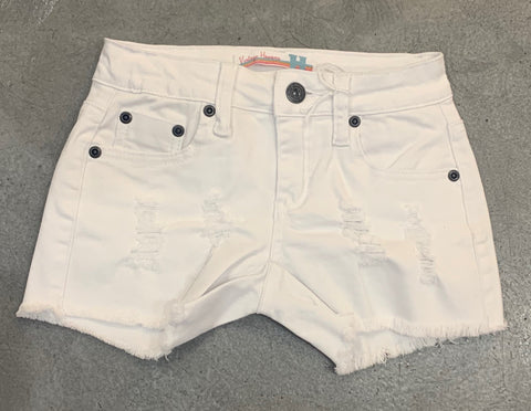 Vintage Havana White Denim Shorts