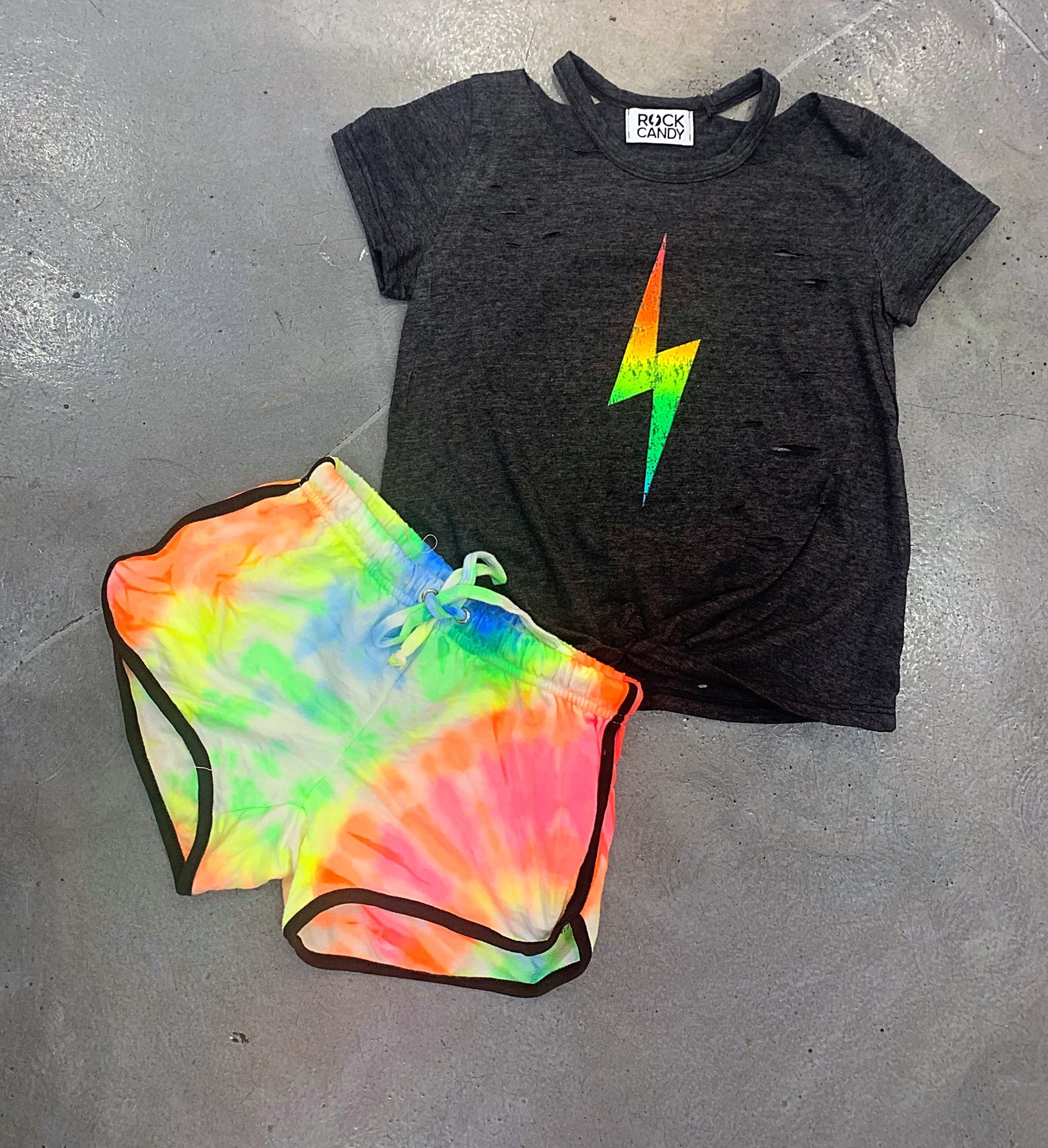Rock Candy Neon Bolt Cut Tee