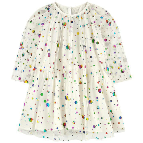 STELLA MCCARTNEY Girls Dot Print Long Sleeve Dress