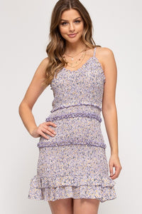 Junior Floral Dress - Lavender