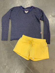 T2Love Contrast Pocket Shorts - Yellow
