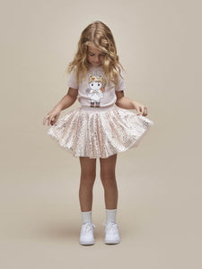 Huxbaby - GOLD ANIMAL TULLE SKIRT