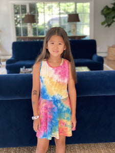 Tweenstyle - Rainbow Tie Dye Skater Dress