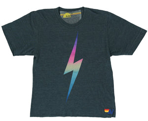 AVIATOR NATION Boyfriend Tee Rainbow Bolt