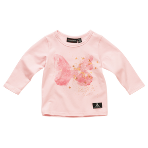 Rock Your Baby - Butterfly Kisses Baby Long Sleeve Tshirt