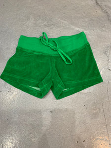 Hard Tail Terry Shorts, Green, Junior