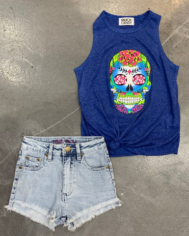 Rock Candy Rose Skull Tank