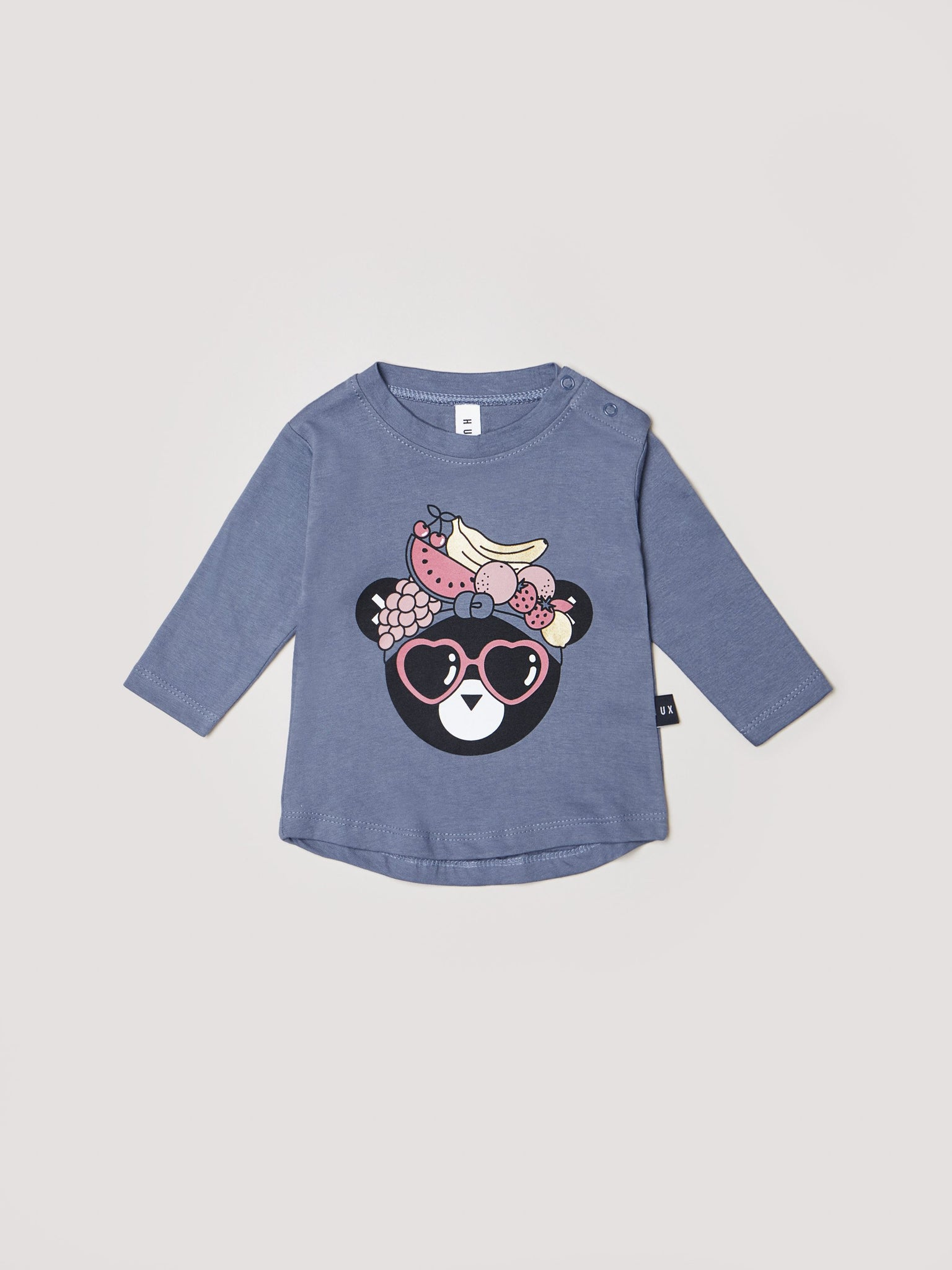 HUXBABY Panda Fruit Long Sleeve Tee