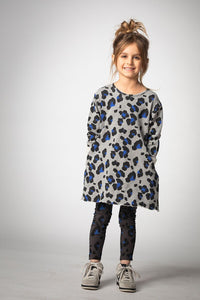 JOAH LOVE Girls Long Sleeve Cheetah Print Dress