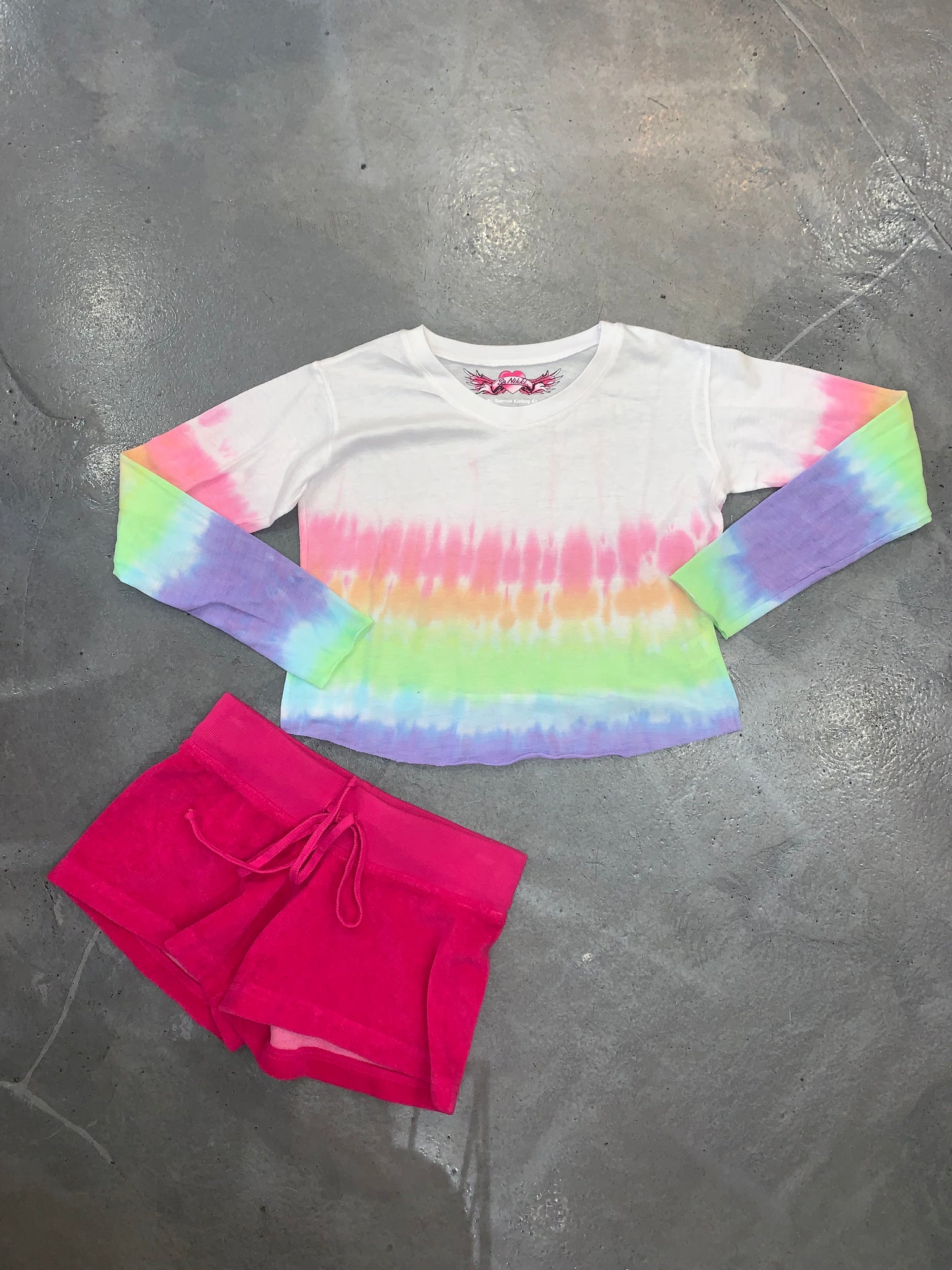 So Nikki Tie Dye LS Top