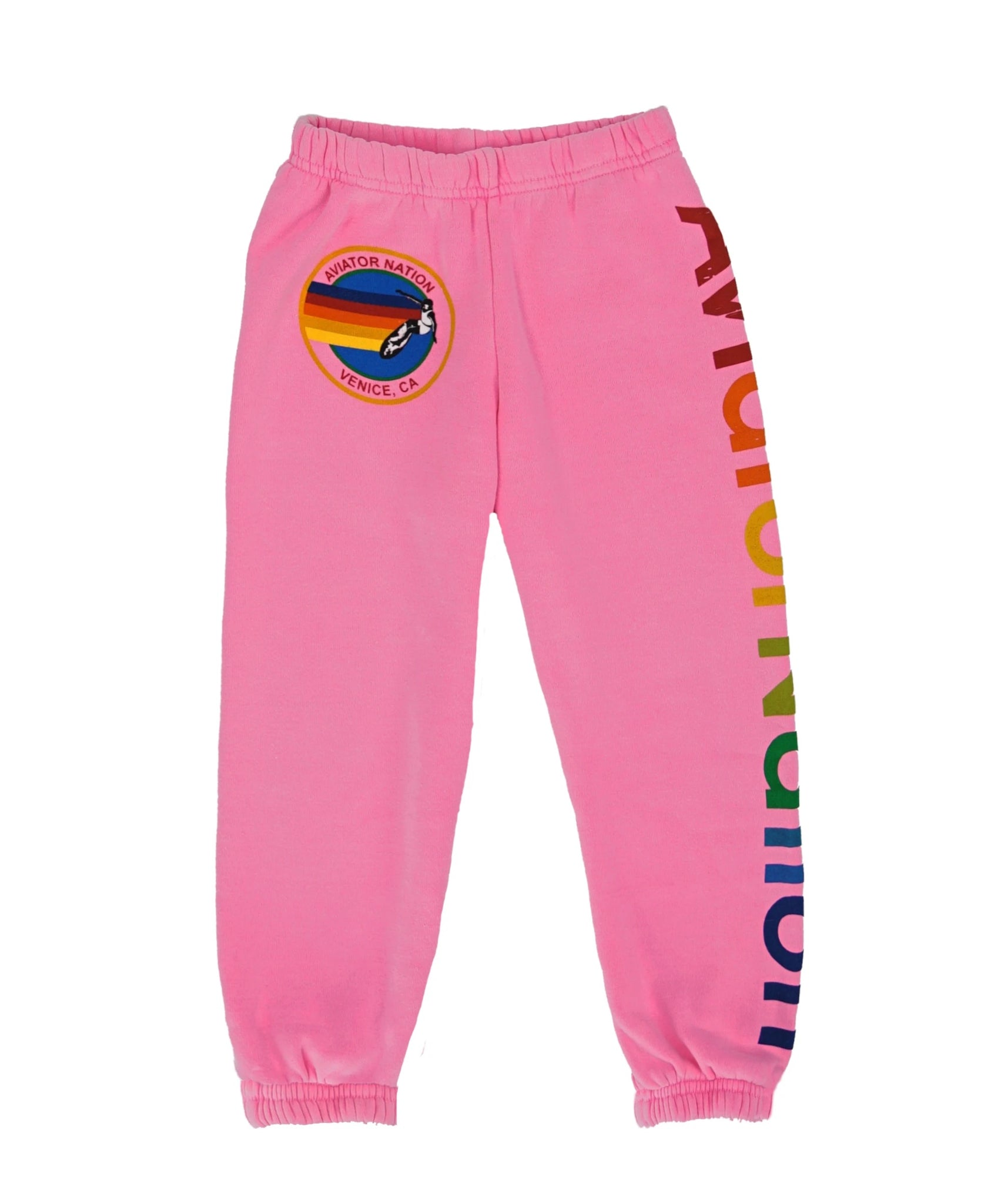 Aviator Nation - KID'S AVIATOR NATION SWEATPANTS - NEON PINK