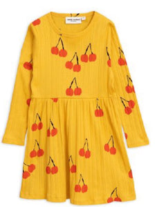 MINI RODINI Girls Cherry Print Dress