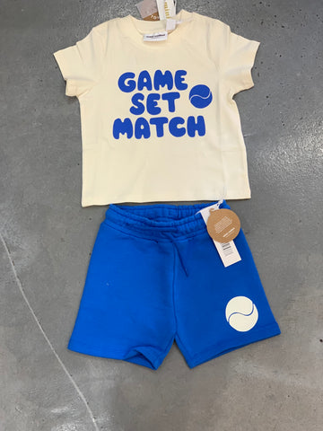 Mini Rodini Game Set Match Tee