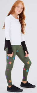 TEREZ Girls Star Print Leggings