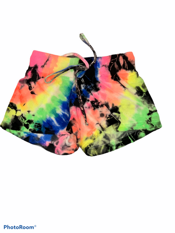 Hard Tail - Kids Neon Tie Dye Terry Shorts