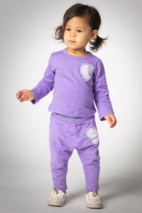 JOAH LOVE Baby Long Sleeve Tee and Pants Set with Heart