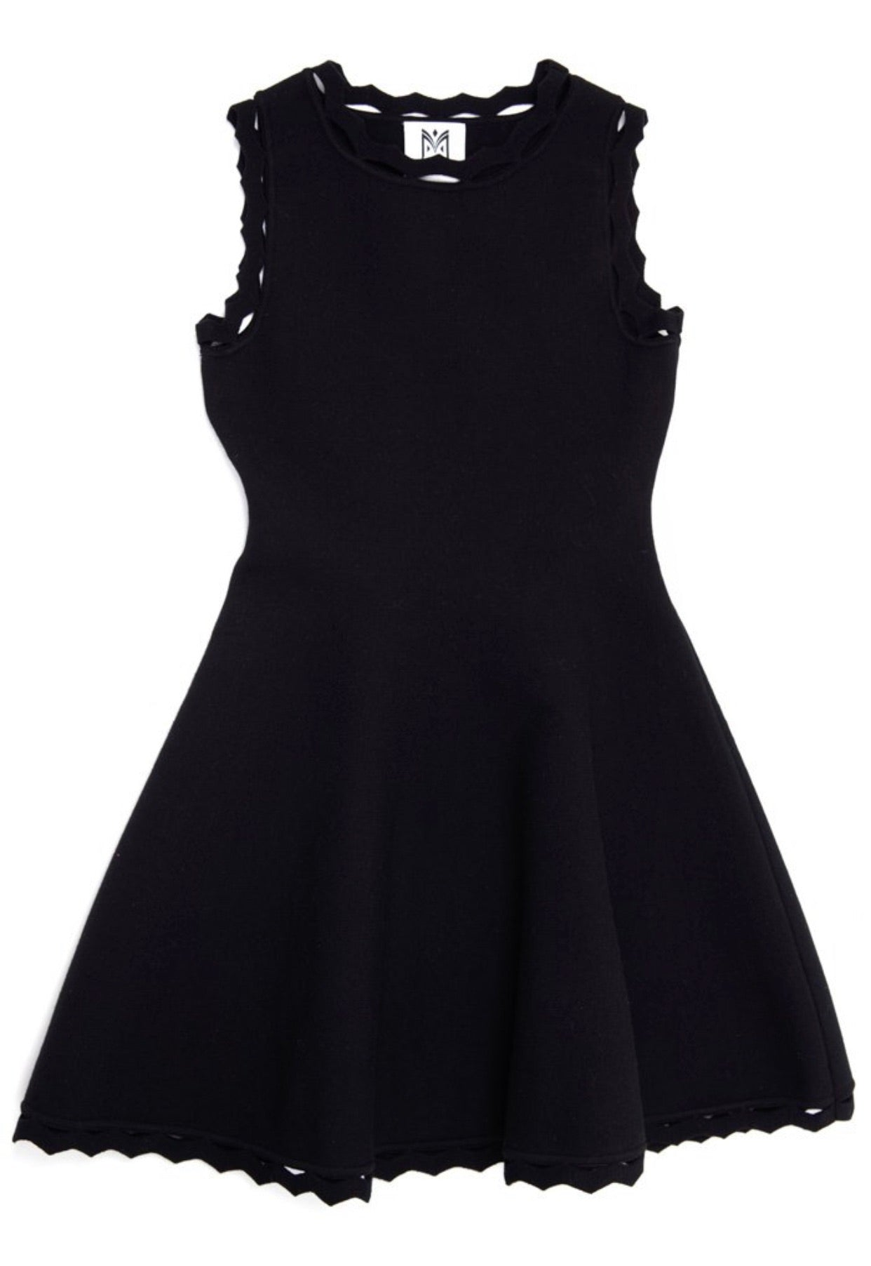 Milly Knit Zig Zag Dress - Black